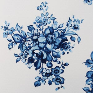 Image of Indigo Floral Study 1 - watercolour original