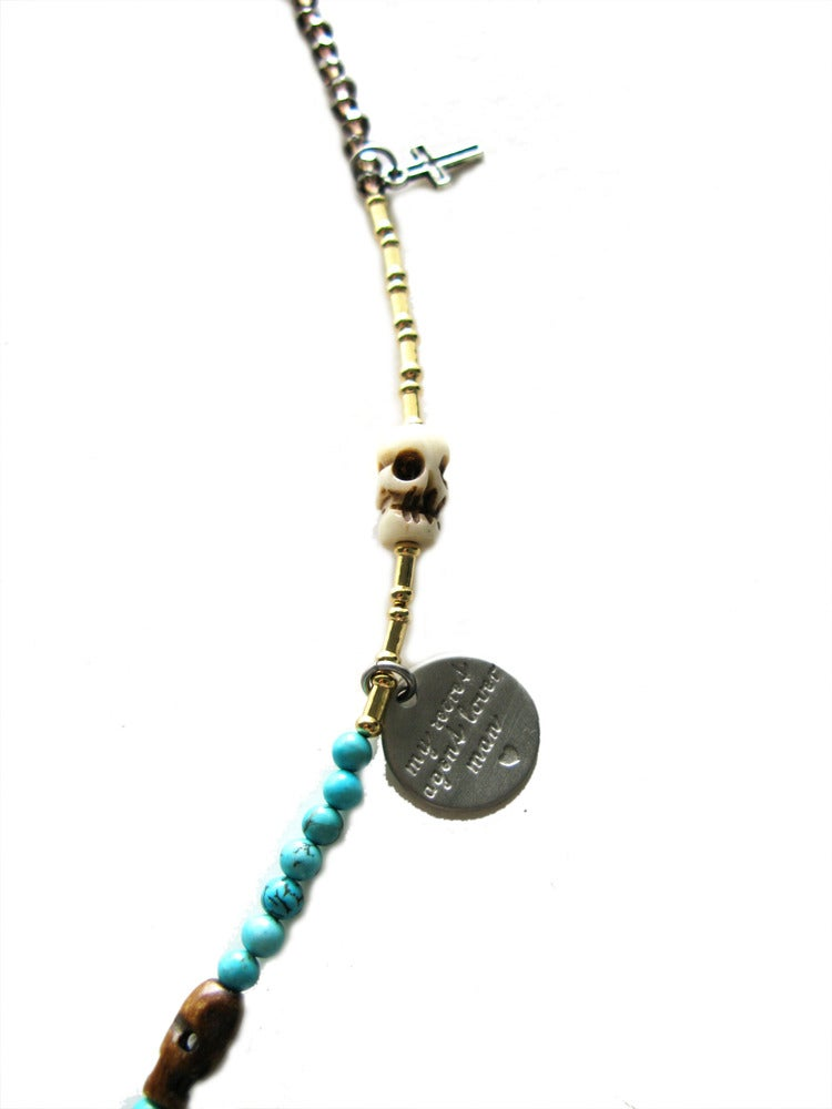 Image of Peace Skull Necklace