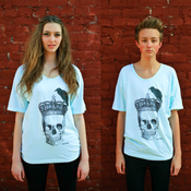 Image of Perching Crow Skull Tee Mint