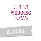 Image of Client Wedding Forms Bundle