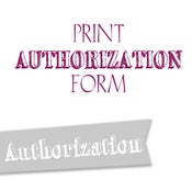 Image of Print Authorization Form