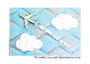 Image of Toy poster - I saw a plane