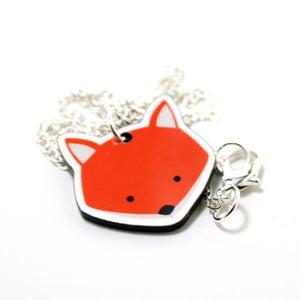 Image of Acrylic Fox Necklace