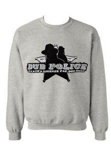 Image of Dub Police Heather Grey Mens Sweatshirt