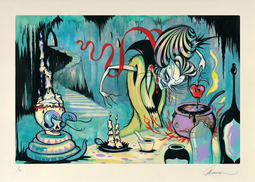 """Image of """"The Witches Laboratory"""" 15"""" x 21"""" print"""