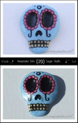 Image of Sugar Skulls Hair Piece - Decorated