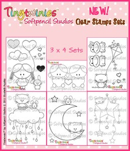 Image of 3 x 4 Softpencil Studios Stamps
