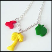 Image of Palm,Cherry,Apple Charm Necklace
