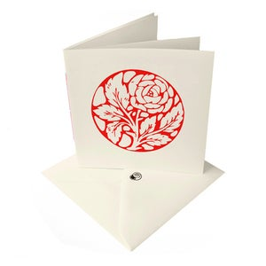 Image of Red Rose card