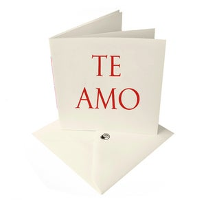 Image of 'TE AMO' [I love you] latin LOVE card