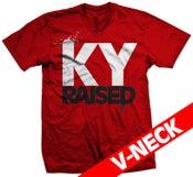 Image of KY Raised V-Neck in Red/White/Black