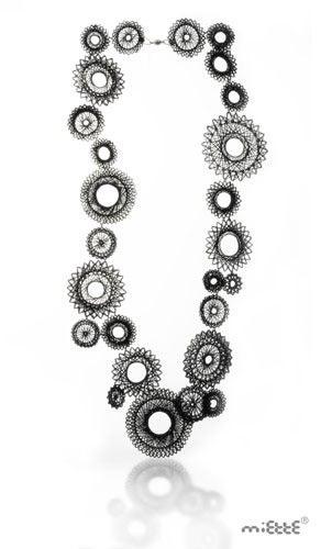 Image of black spiro necklace
