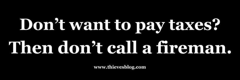 """Image of """"Don't want to pay taxes"""" bumper sticker v.4"""