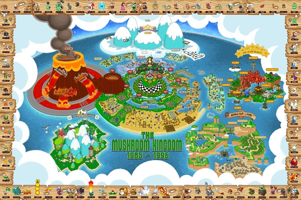 Image of Mushroom Kingdom Map