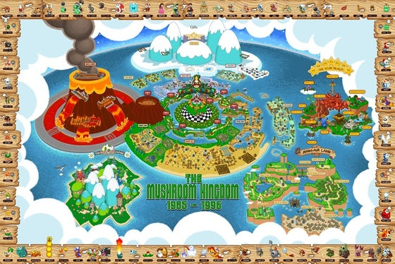Image of Mushroom Kingdom Map
