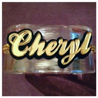 Image of Cheryl's Dope The Boss Customized Bangle