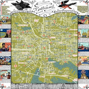 Image of Illustrated Baltimore Map