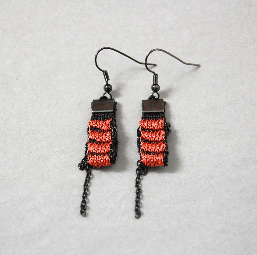 Image of One Pixel Earrings CORAL
