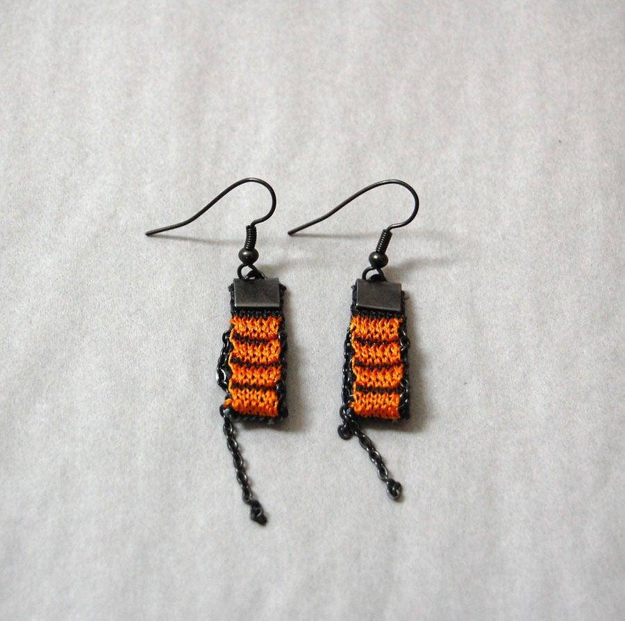 Image of One Pixel Earrings ORANGE