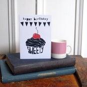 Image of 'Happy Birthday Sweety' Greetings Card