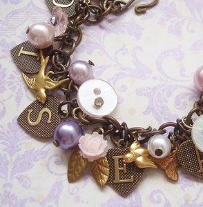 Image of Les Oiseaux charm bracelet
