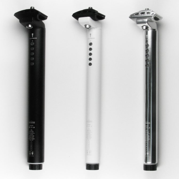 Image of LightSkin seat post with LED rear light Φ27.2mm - Black/White/Silver