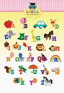Image of English Alphabet Poster (Pink)