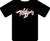 Image of T-Shirt (red on black)