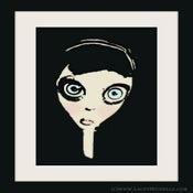 Image of Doll Face Cartoon Art Print