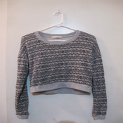 Image of Crop Aztec Sweater