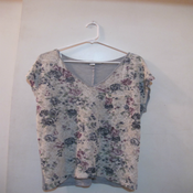 Image of Purple Floral Lace Top