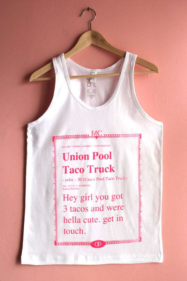 Image of Taco Truck Missed Connection Tank