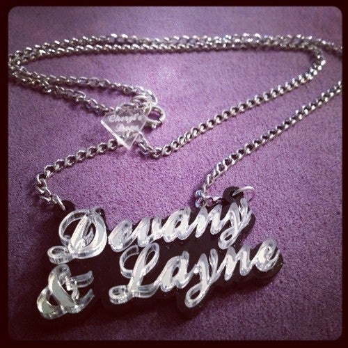 Image of Cheryl's Dope Couples Name Necklace