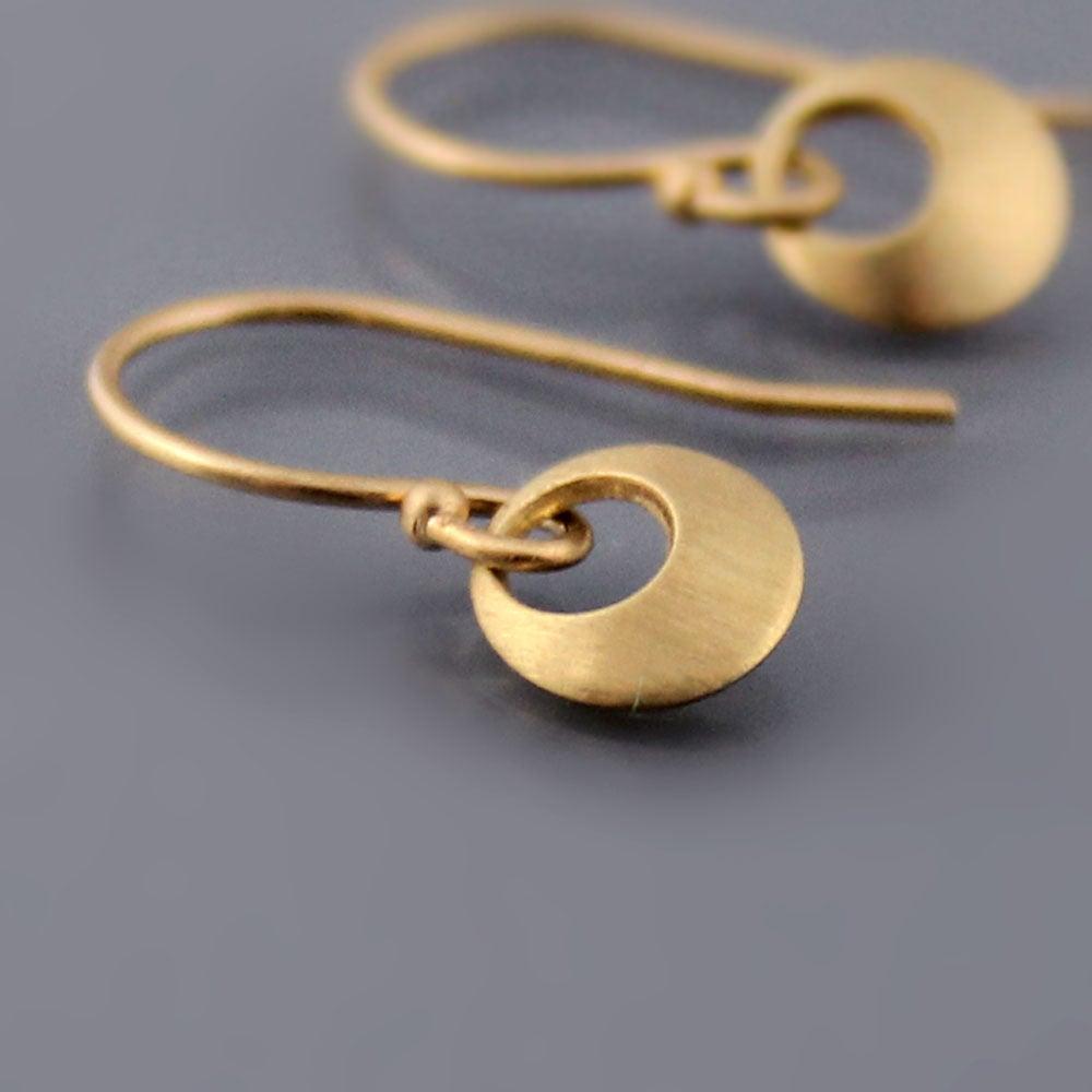Image of 14k Gold Tiny Loop Earrings