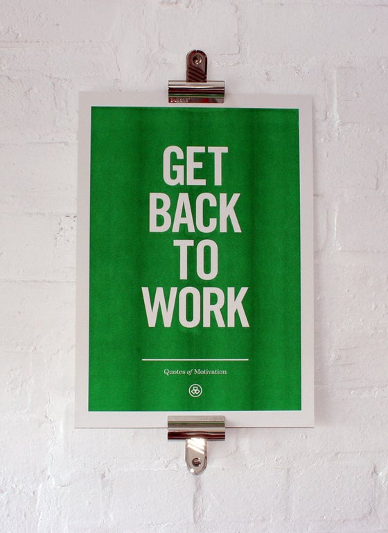 Image of Get Back To Work — Including p+p (UK)