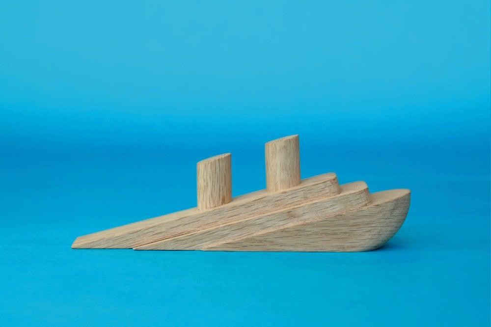 Rededdesign Titanic Doorstop Wood