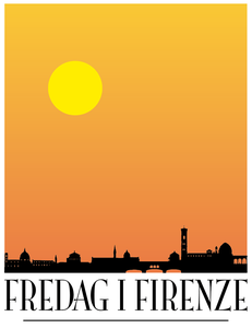 Image of Fredag i Firenze Poster Yellow