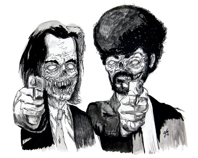 Image of 'Zombie Fiction' Print