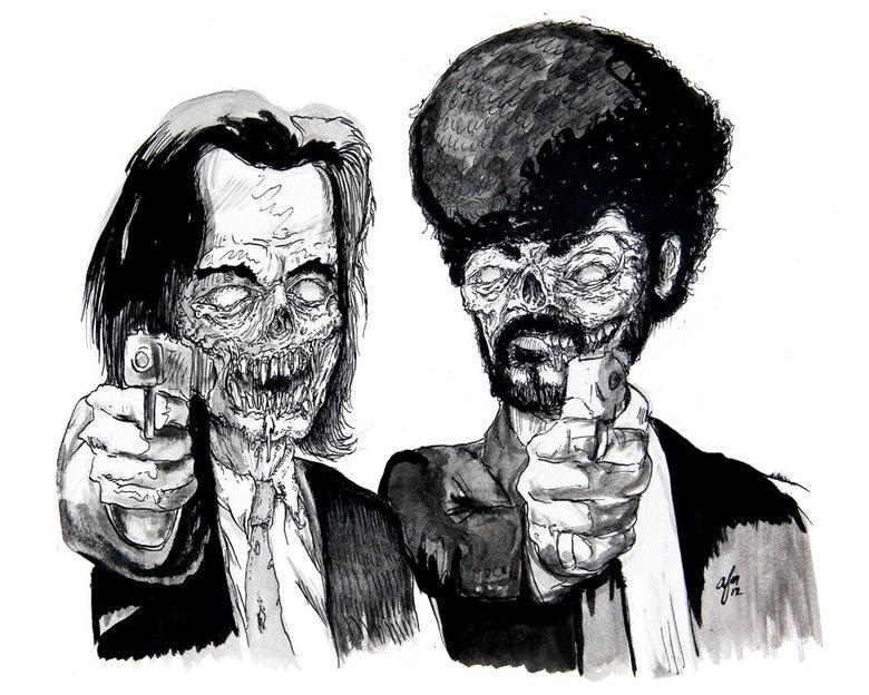 Image of 'Zombie Fiction' Print