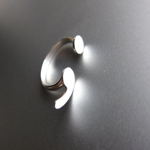 Image of Semicolon Silver Ring - Handmade Punctuation Silver Ring