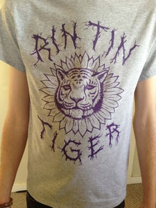 Image of Grey and Purple RTT Sunflower Tiger Unisex T-Shirt