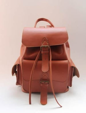 Image of Handmade Genuine Leather Backpack / Satchel / Day Pack / Travel Bag - Unisex (m55)