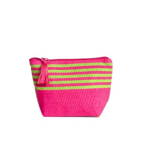 Image of Small Tassel Bag Pink/Lime