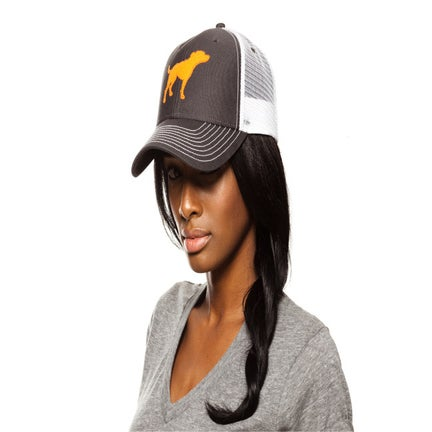 Image of girls tiny tim grey/orange signature trucker hat