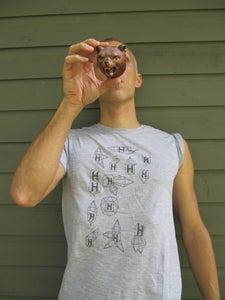 Image of Light Grey Holopaw Icon Tshirt