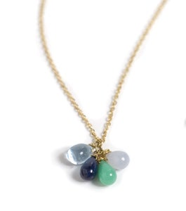 Image of Blue Stone Cluster Necklace