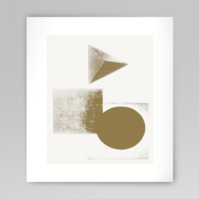 Image of Gold Shapes Silkscreen Print
