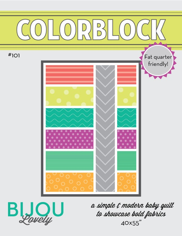 Image of Colorblock Quilt Pattern - PDF