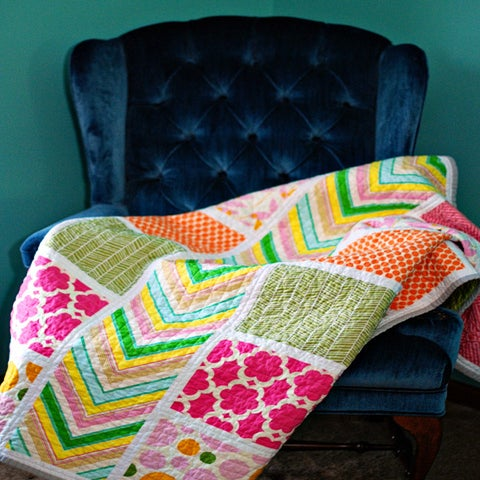 Image of Colorblock Quilt Pattern