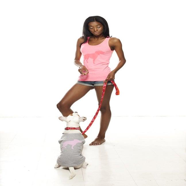 Image of pink tiny tim camou dog leash